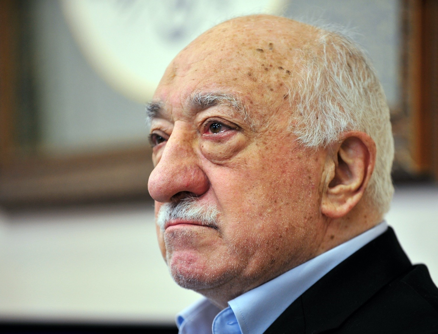 Fethullah Gu00fclen, leader of the Gu00fclenist Terror Group (FETu00d6) speaks to members of the media at his compound, in July 2016, in Pennsylvania.