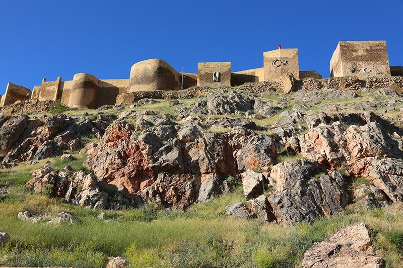 Bayburt Fortress, located in Turkey's northeast is pictured in this photo dated 30.06.2017 (AA Photo)