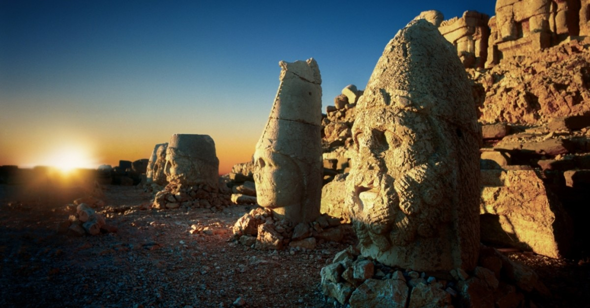 Mt. Nemrut is home to the tomb of King Antiochus I of Commagene.