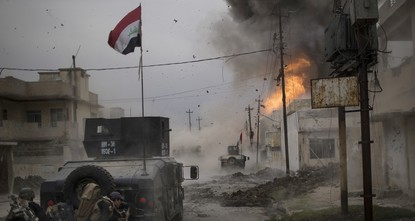 pIraqi forces launched an operation Sunday to retake the western half of Mosul from the Daesh./p