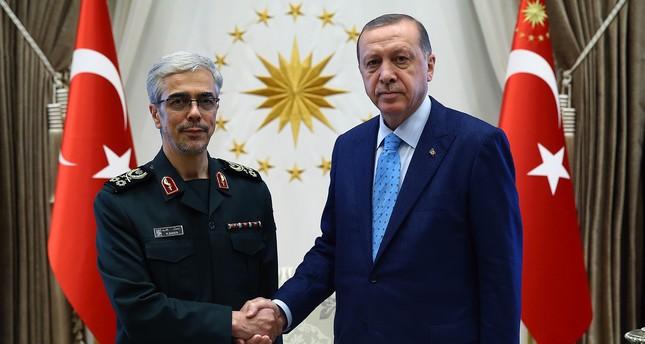 أردوغان يستقبل رئيس أركان الجيش الإيراني في أنقرة