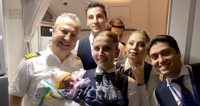 Father, THY crew help woman deliver baby midair