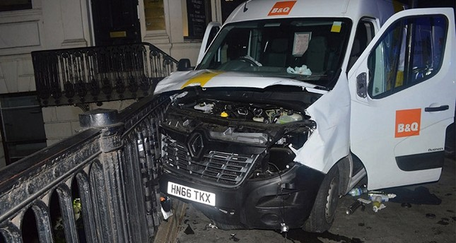 An undated handout photo made available by Britain's London Metropolitan Police Service (MPS) on 10 June 2017 shows the van used in the London Bridge terrorist attack on 03 June 2017, in London, Britain. (EPA Photo)