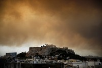 Forest fire near Greek capital Athens sends residents fleeing