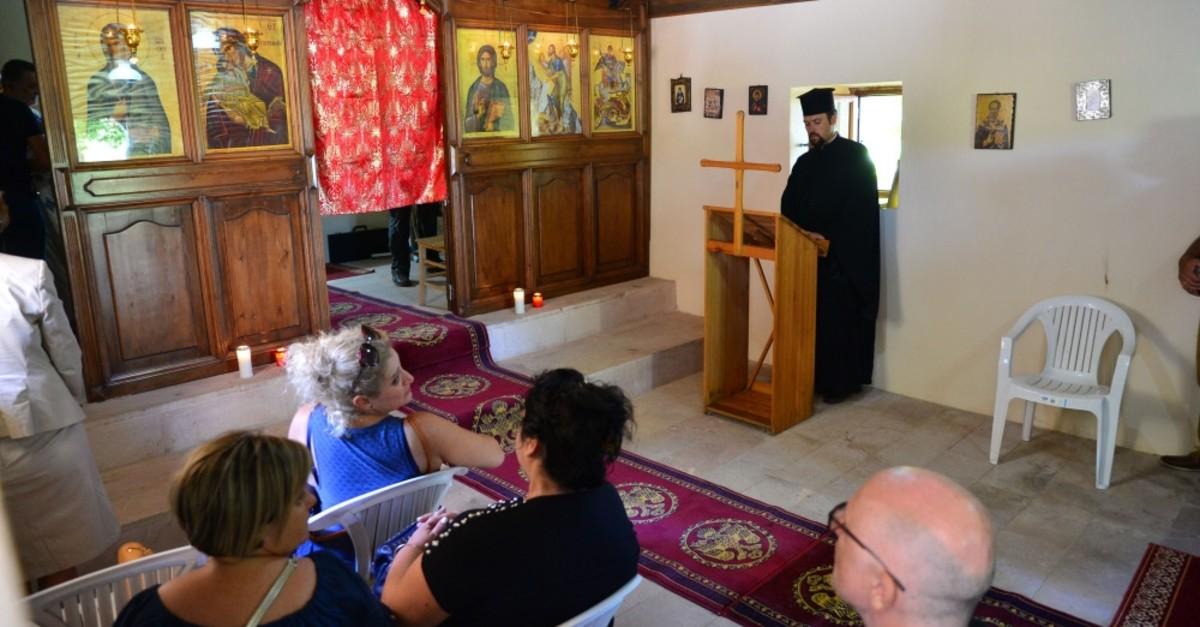 The Greek Orthodox community gathered at Ayazma Monastery, Bozcaada, July 26, 2019.