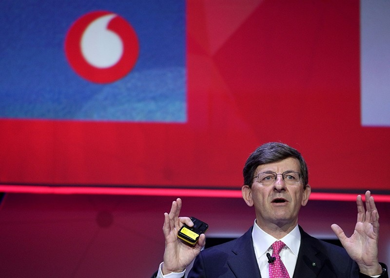 Vodafone Chief Executive Vittorio Colao delivers a keynote at the Mobile World Congress in Barcelona, Spain, Feb. 26, 2018. (Reuters Photo)