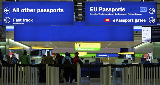 A general view of the U.K. Border crossing in the new Terminal 2 at Heathrow Airport in London, Britain, June 4, 2014. (EPA Photo)