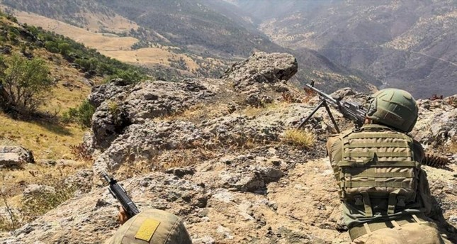 Turkish security forces conduct cross-border operations in northern Iraq, a region where PKK terrorists have hideouts and bases from which they carry out attacks on Turkey. AA