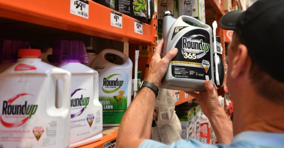 In this file photo taken on July 9, 2018, Customer Gary Harms shops for Roundup products at a store in San Rafael, California. (AFP Photo)
