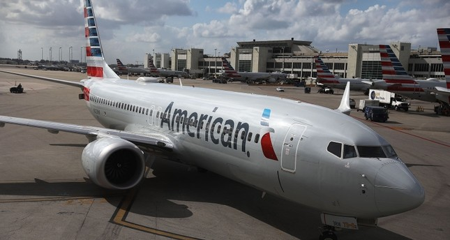 An American Airlines Boeing 737 Max 8 is seen as it pulls into its gate after arriving at the Miami International Airport from LaGuardia Airport on March 13, 2019 in Miami, Florida. (AFP Photo)