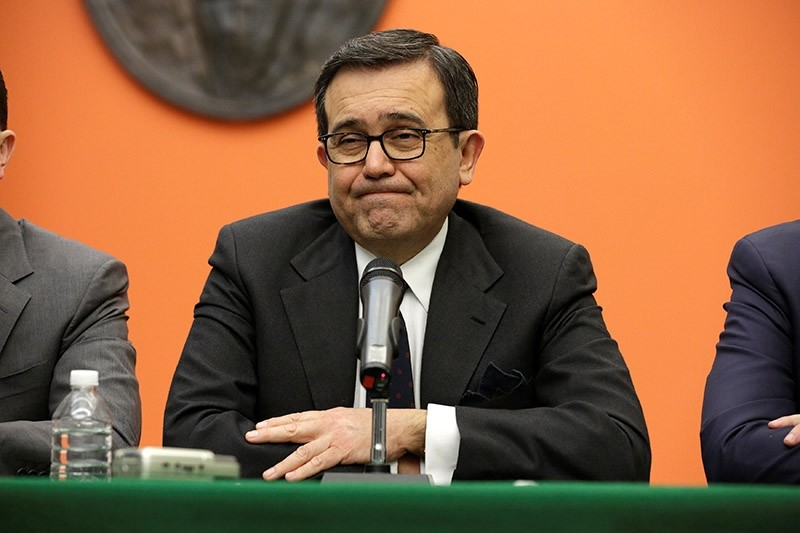 Mexico's Economy Minister Ildefonso Guajardo speaks about U.S. President Donald Trump wanting to impose a 20 percent tax on goods from Mexico in Washington, U.S. January 26, 2017. (Reuters Photo)