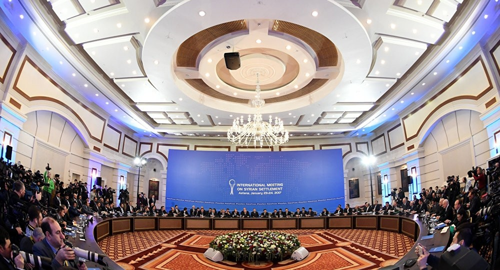 The first session of Syria peace talks held in Astana took place on Jan. 23, 2017 with the participation of Turkey, Russia and Iran.