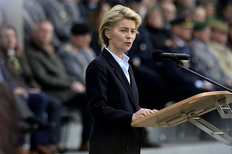 German Minister of Defense, Ursula von der Leyen delivers a speech during the opening ceremony of the new Bundeswehr cyber command in Bonn, Germany, 05 April 2017. (EPA Photo)