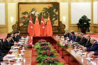 Erdoğan meets China's Xi, world leaders on the sidelines of OBOR summit
