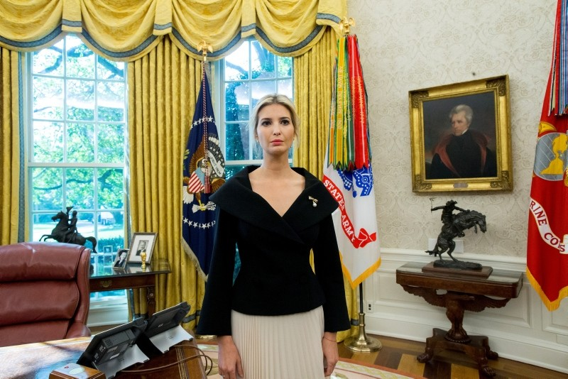 irst daughter Ivanka Trump listens to US President Donald J. Trump and US Ambassador to the United Nations Nikki Haley deliver remarks in the Oval Office of the White House in Washington, DC, October 9, 2018. (EPA Photo)