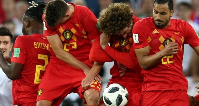 لاعبون من المنتخب البلجيكي