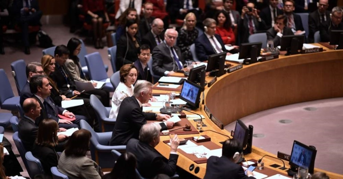 The Security Council of the United Nations met at the U.N. headquarters on Feb. 12, 2020 in New York City. (AFP)