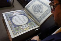 Afghanistan's calligraphy, miniature tradition imprinted in rare silk Quran