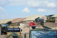 Turkish military starts setting up observation points in Syria's Idlib