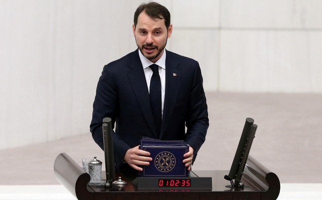 Treasury and Finance Minister Berat Albayrak presents the central government's 2019 budget proposal in Parliament, in Ankara, on Dec. 10, 2018. (AA Photo)