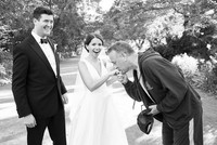 Tom Hanks takes photo with the newlyweds during wedding shoot