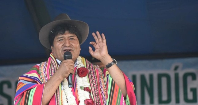 Bolivia's President Evo Morales speaks during a ceremony in Quillacas, Oruro, Bolivia, October 30, 2019. (Courtesy of Bolivian Presidency/Handout via Reuters)