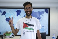Palestine grants citizenship to Swedish activist Ladraa after 5,000-kilometer march