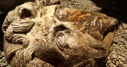 Archeologists find Roman bust, ancient shrine in Egypt