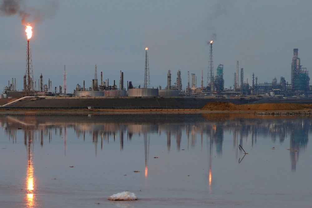 A general view of the Amuay refinery complex which belongs to the Venezuelan state oil company PDVSA in Punto Fijo.