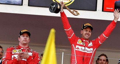 pSebastian Vettel beat his Ferrari teammate Kimi Raikkonen to win the Monaco Grand Prix on Sunday and comfortably extend his lead at the top of the standings to 25 points./p  pIt was the...