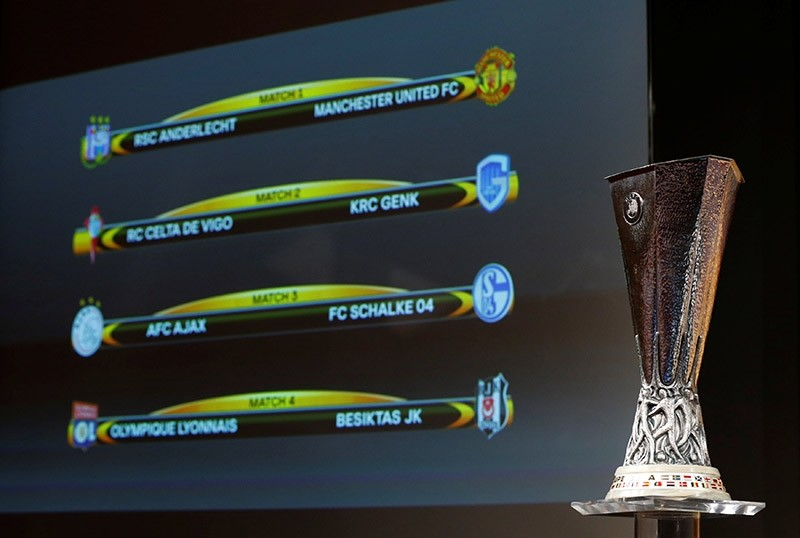 The UEFA Europa League trophy is pictured after the draw of the quarterfinals in Nyon, Switzerland March 17, 2017. (Reuters Photo)