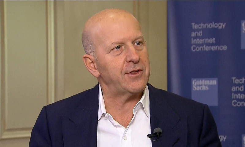 Goldman Sachs President David Solomon during interview with Bloomberg
