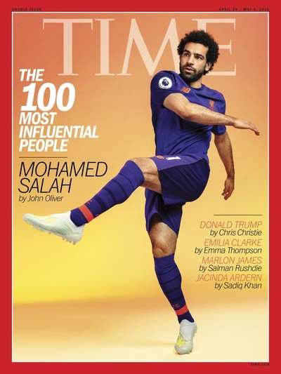 Time magazine cover featuring Mohamed Salah (Courtesy of Time magazine)