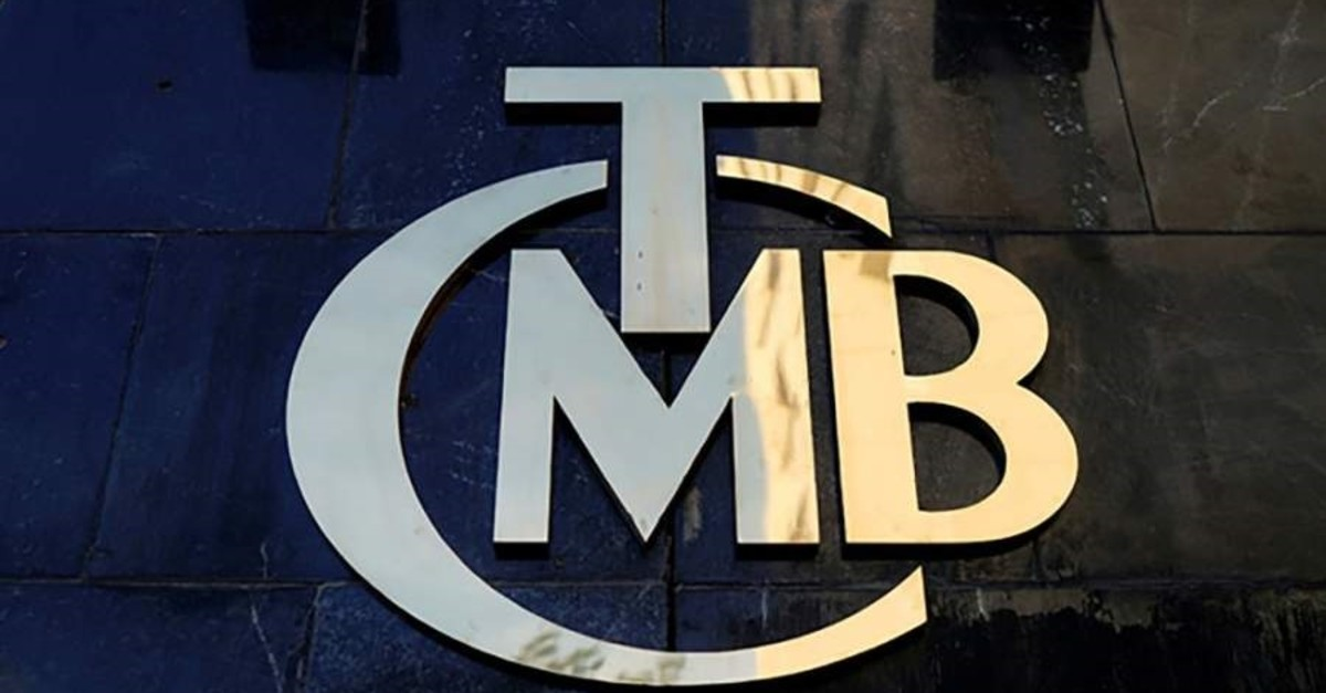 A logo of the Central Bank of the Republic of Turkey at the entrance of the bank's headquarters in Ankara, April 19, 2015. (Reuters Photo)