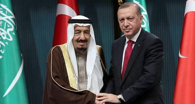 Saudi King Salman bin Abdulaziz and President Recep Tayyip Erdoğan
