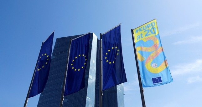 Flags are pictures in front of the European Central Bank ECB headquarters in Frankfurt, Germany, July 25, 2019 Reuters Photo