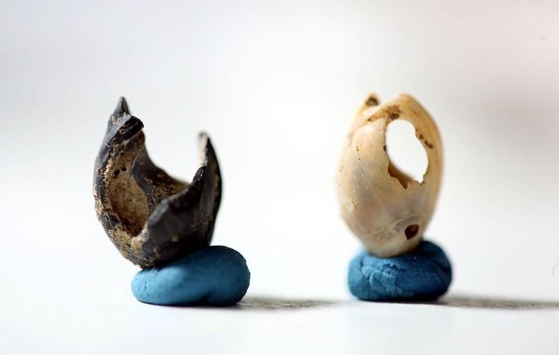 Artifacts found in Direkli Cave in Kahramanmarau015f province, Turkey. (AA Photo)
