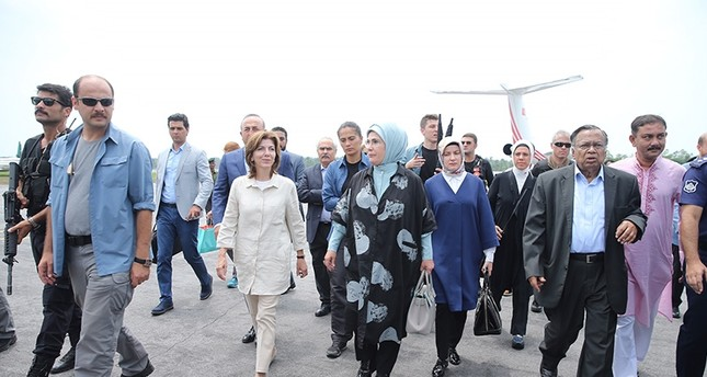 First Lady Emine Erdoğan arrives in Bangladesh to visit Rohingya refugee camp in Cox Bazaar AA Photo