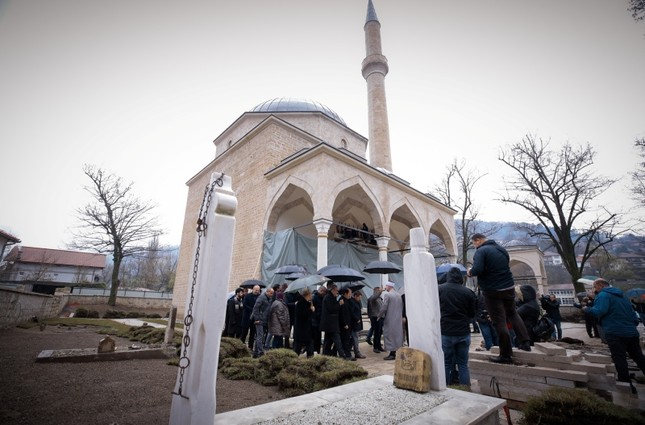 Reconstruction of Alaca mosque in Bosnia's Foca nears completion
