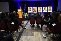 من حفل تكريم لبعض ضحايا الطائرة الأوكرانية الكنديين