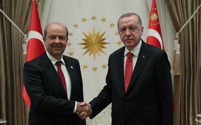 TRNC PM Tatar L and President Erdoğan