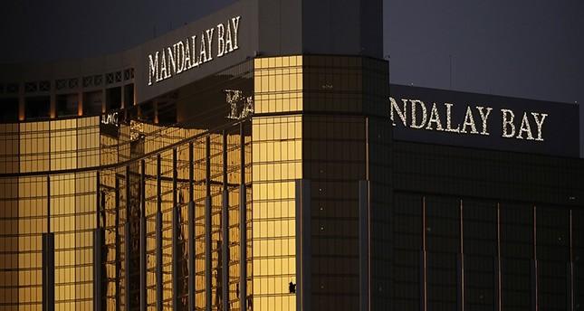 Windows are broken at the Mandalay Bay resort and casino, Tuesday, Oct. 3, 2017, in Las Vegas. (AP Photo)