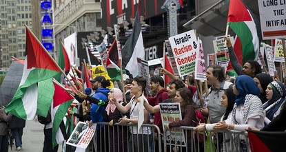 مظاهرات في نيويورك تنديداً بالمجزرة الإسرائيلية في غزة