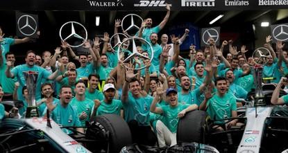 Mercedes wins 5th consecutive F1 constructors' title