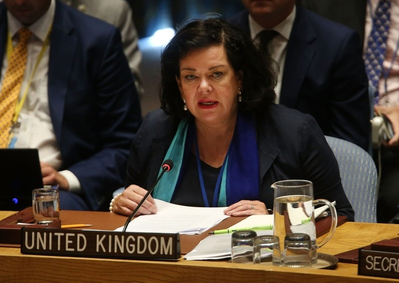 UK envoy Karen Pierce speaks at a U.N. Security Council meeting to officially announce the latest findings behind the poisoning of Russian ex-spy Sergei Skripal and his daughter last March on September 6, 2018 in New York City. (AFP Photo)