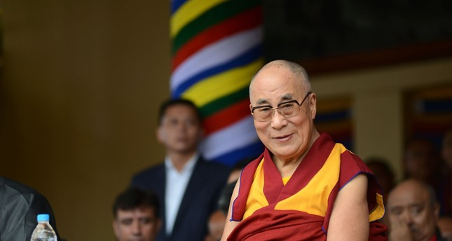 Dalai Lama attending an event to celebrate President Barack Obama will meet the Dalai Lama at the White House on June 15, 2016 (AFP PHOTO)