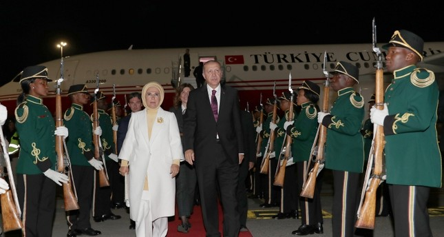 أردوغان يغادر جنوب إفريقيا إلى زامبيا ثاني محطاته الإفريقية