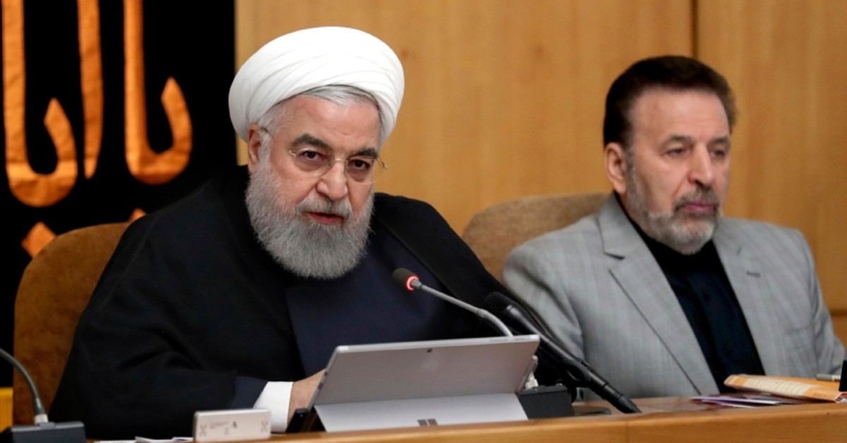 In this photo released by the office of the Iranian Presidency, President Hassan Rouhani speaks in a cabinet meeting in Tehran, Iran, Wednesday, Sept. 4, 2019. (AP Photo)