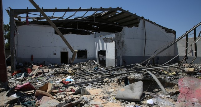 Location of an airstrike that killed over 40 migrants at Tajoura Detention Center, east of Tripoli on early July 3, 2019. (AA Photo)