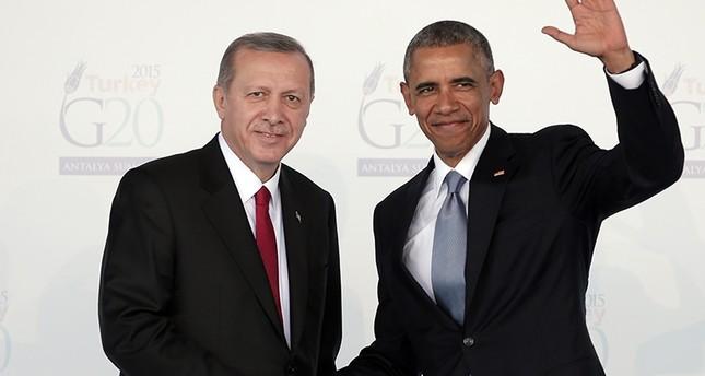 Präsident Recep Tayyip Erdoğan und US-Präsident Barack Obama beim G-20-Gipfel in Antalya am 15. November 2015. (AP Foto)